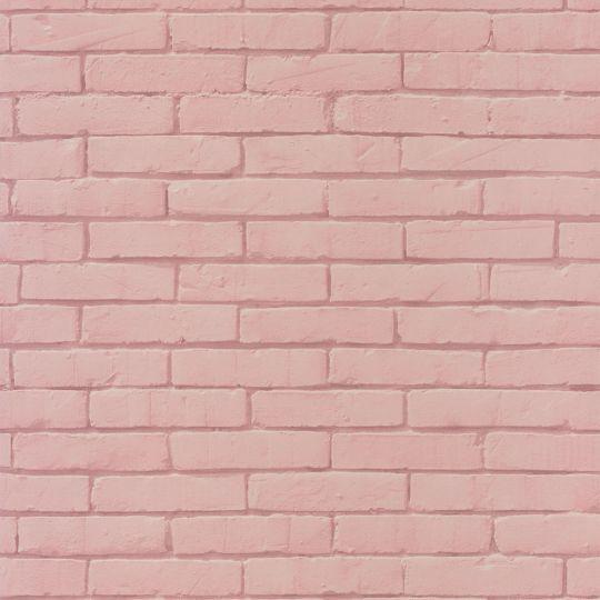 Шпалери Caselio Pretty Lili PRLI69134012 під цеглу рожеві