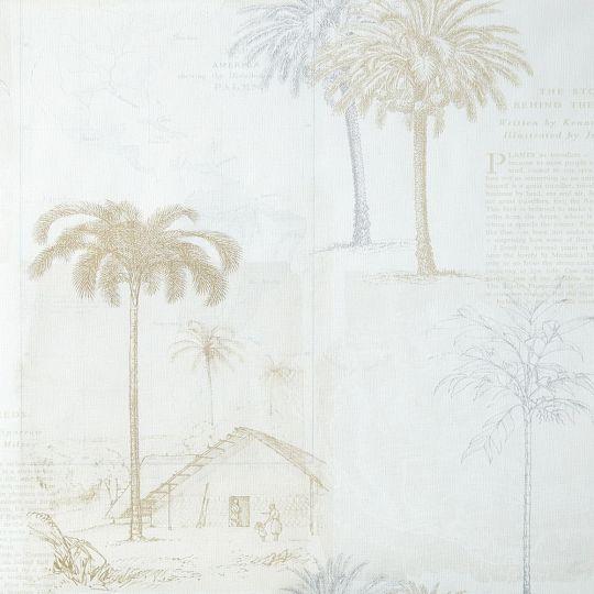Шпалери Caselio Passport PSP66591099 пальми білі