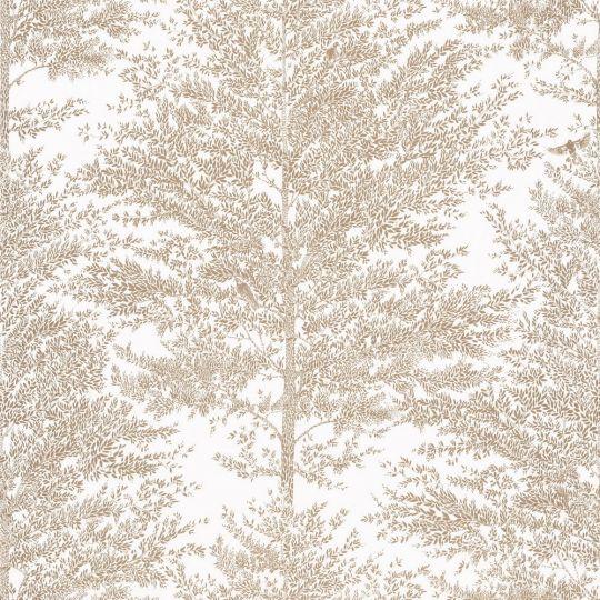 Шпалери Caselio The place to bed PTB101801024 дерева біло-золоті