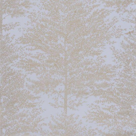 Шпалери Caselio The place to bed PTB101806020 дерева золоті на фіолетовому