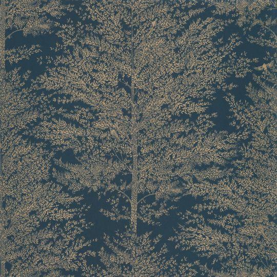 Шпалери Caselio The place to bed PTB101806127 дерева золоті на синьому