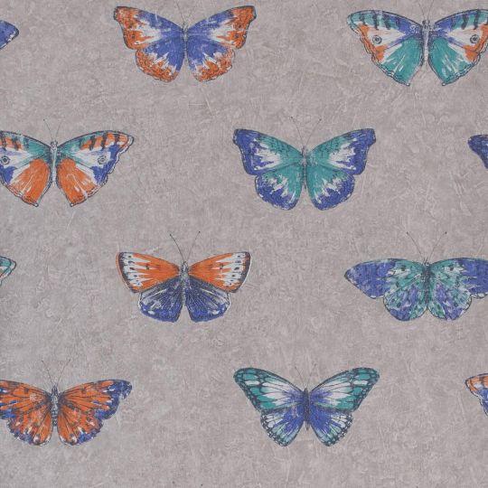Обои Caselio Street Art SRE68214546 бабочки разноцветные