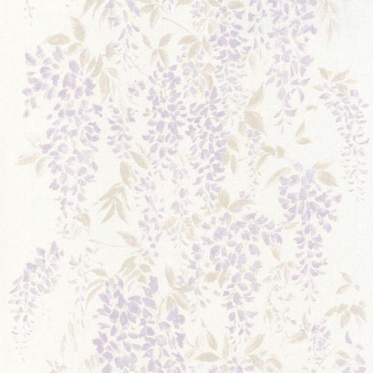 Обои Casadeco Summer Time SUT80955132 глициния фиолетовая