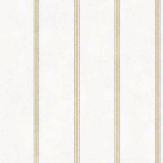 Обои Casadeco Summer Time SUT80977115 в полоску горчично-белые