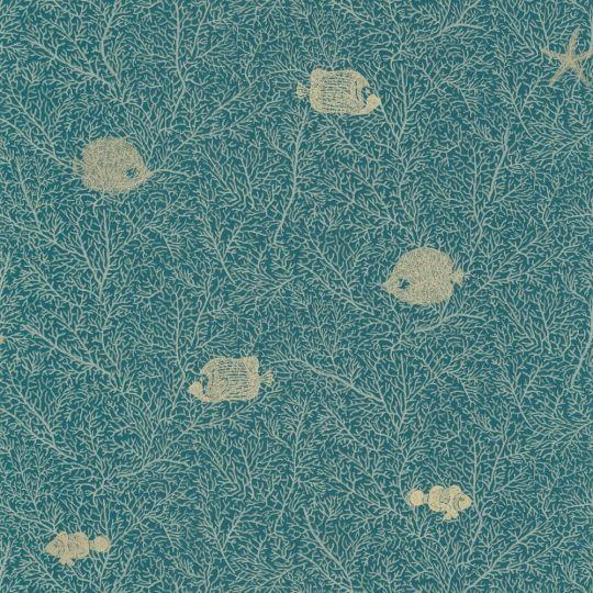 Обои Caselio Sea you soon SYO102776680 коралловые рифы с рыбками синие
