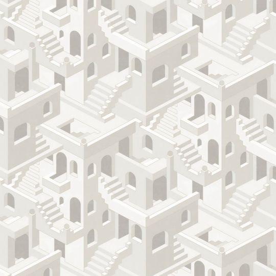 Обои Casadeco Utopia UTOP85110464 3D лестницы серые