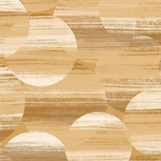 Обои Casadeco Utopia UTOP85122369 абстрактные круги желтые