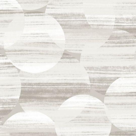 Обои Casadeco Utopia UTOP85129211 абстрактные круги серо-белые