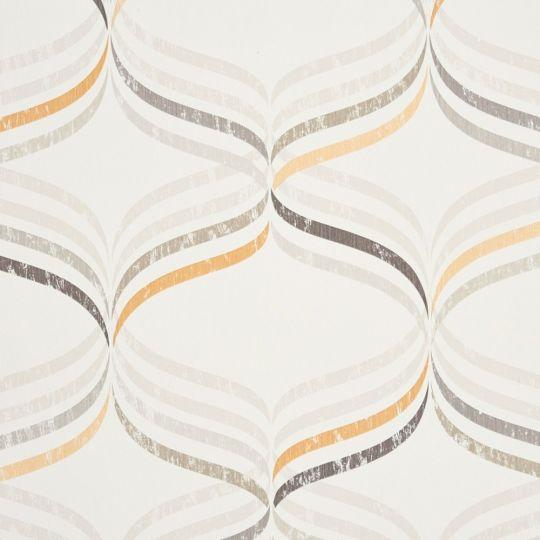 Обои Caselio Vitamine VTA62841020 абстракция серо-оранжевая