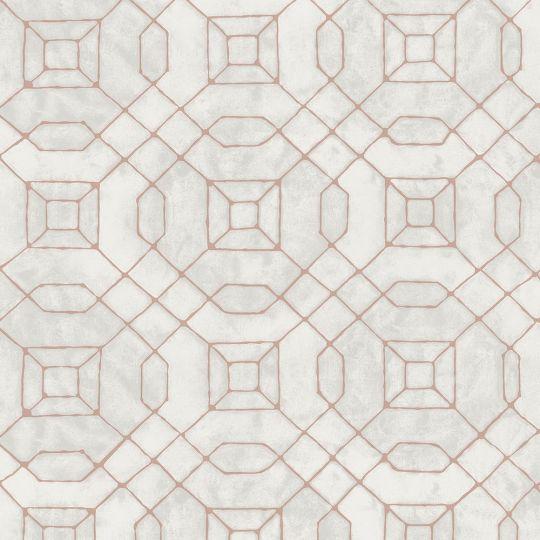 Обои Galerie Metallic FX W78215 геометрия серая бронза