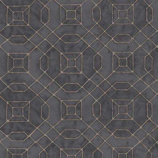 Обои Galerie Metallic FX W78218 геометрия черная