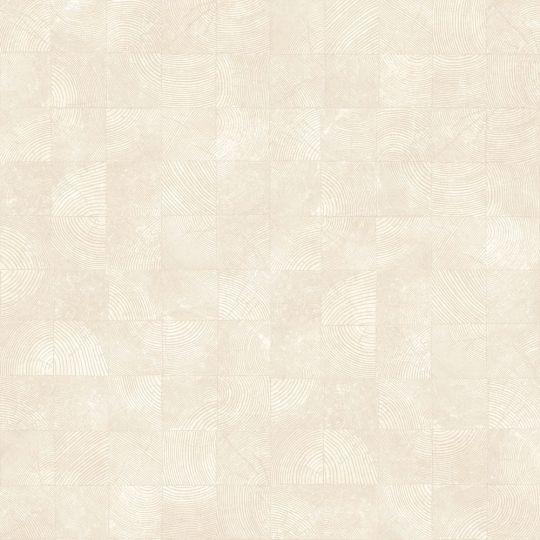 Обои Casadeco Woods WOOD86011137 квадратики с текстурой светло-бежевые