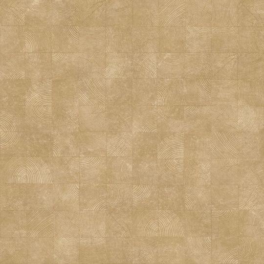 Обои Casadeco Woods WOOD86011318 квадратики с текстурой желтые