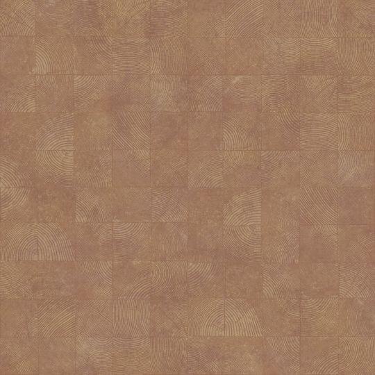 Обои Casadeco Woods WOOD86012424 квадратики с текстурой оранжевые