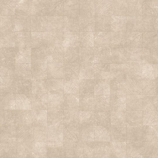 Обои Casadeco Woods WOOD86012442 квадратики с текстурой светло-коричневые