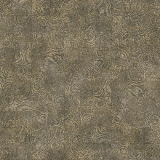 Обои Casadeco Woods WOOD86012532 квадратики с текстурой фиолетово-коричневые