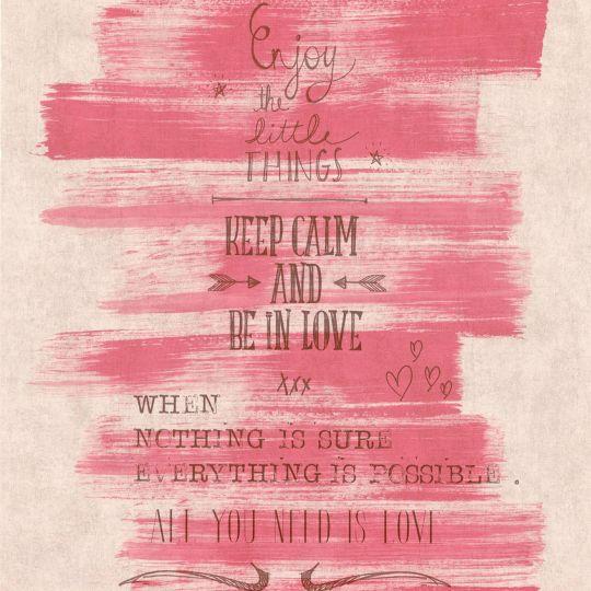 Шпалери Caselio Words WRD67084056 постер на червоному